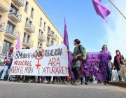 Capçalera d'una mobilització de Banyoles pel Dia Internacional de les Dones (Font: flickr.com)