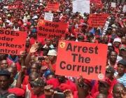 Manifestació a Sud-àfrica contra la corrupció