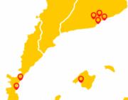 mapa amb els punts dels dinars