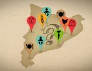 """Mapa mejadors ecològics. Fotograma del vídeo """"Els tres menjadors i el llop"""""""