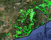 El mapa de les xarxes Guifi existents