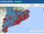 """El mapa de l'aigua a Catalunya elaborat per """"Aigua és vida""""  (imatge: aiguaesvida.org)"""