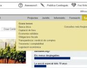 Imatge del menú desplegable de xarxanet.org