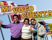 Foto campanya el meu vot compte. Font: web afundacion.org