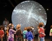Nens i nenes al Museu Blau. Foto: JM de Llobet