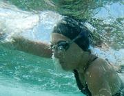 Fotografia d'una nedadora als Jocs Special Olympics