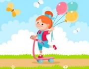Una nena amb un globus l'espai de la diada al web de les Nacions Unides