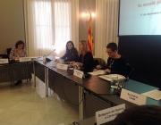 La vicepresidenta durant la reunió. Font: web gencat.cat