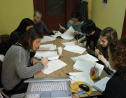 Grup que fa pràctiques laborals a Florència en el marc de Care for Diversity II