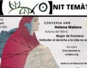 L'objectiu de la jornada és conversar amb Helena Maleno sobre el llibre 'Mujer de frontera. Defender el derecho a la vida no es un delito'. Font: Fundipau.