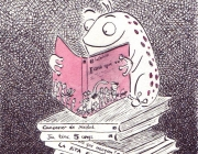 Granota llegint - Il·lust. Noe Bofarull