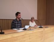 Cristian Carrer, coordinador tècnic de l'OCH, i Francisca Cifuentes, responsable de formació i estudis Font: OCH