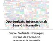 Cartell de les xerrades. Font: Fundació Catalunya Voluntària