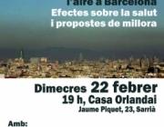 Xerrada sobre la contaminació de l'aire a Barcelona amb la Plataforma Qualita de l'Aire (imatge: qualitataire.org)