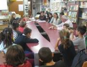 El Consell d'Escola Verda format per alumnes, mestres i mares i pares de l'Ampa de l'escola Orlandai (imatge:escola verda Orlandai)
