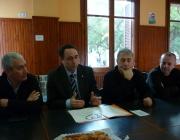 Ciurana, tinent d'alcalde de Cultura, a la roda de premsa a LluÏsos de Gràcia