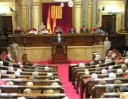 Foto del parlament català debatint una llei. Font: solidaritatcatalana.cat