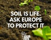 People4Soil és una campanya legislativa ciutadana per la protecció del sòl a Europa (imatge: peope4soil.eu)