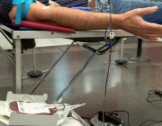 Persona donant sang. Font: Banc de Sang