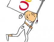 Petra, la mascota dels Jocs Paralímpics de Barcelona 92