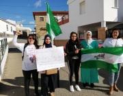 Temporeres de Huelva i membres del SAT en lluita. Font: SAT