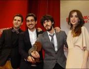 Oriol Martínez i Enric Ribes recollint el premi
