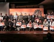 Imatge dels guardonats en l'edició de 2017 dels Premis Ateneus