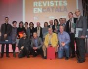 El Conseller de Cultura, Ferran Mascarell, amb els guardonats