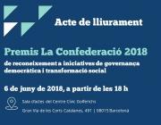 Acte d'entrega dels Premis La Confederació 2018