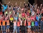 Infants actuant en el concert de final de curs al Palau de la Música l'any 2012