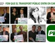 PTP: Fem que el transport públic entri en campanya