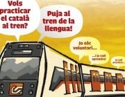"""La iniciativa """"El Tren de la llengua"""" promou les parelles lingüístiques als trens"""