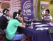 Fent un programa de ràdio en un esdeveniment