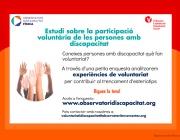 Participació voluntària de les persones amb discapacitat. Font: Observatori de la Discapacitat Física