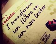 Recicla cultura i transforma 1 llibre en un nou lector. Foto de la campanya 2013