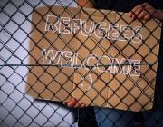 Eslògan de benvinguda als refugiats. Font: Pixabay