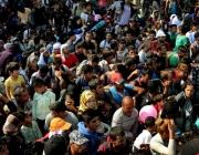 Refugiats acumulats a Idomeni. Font: Sergi Càmera