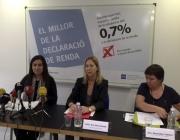 Roda de premsa 0,7% IRPF. Font: web Taula Tercer Sector de Catalunya