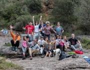 Els voluntaris i voluntàries ambientals durant la inspecció de primavera 2016 del Projecte Rius (imatge: custodiafluvial.wordpress.com)