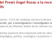 3a edició del Premi Ángel Rozas a la recerca en ciències socials, per a investig