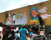 Jornada per pintar un mural a Ruanda. Font: Kurema Kureba Kwiga