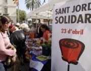 Sant Jordi Solidari a Sant Boi. Font: www.barrejant.cat