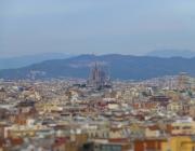 Vistes de Sants des de Barcelona.