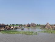 Les crescudes del riu al Sudan del Sud obliguen a les poblacions a desplaçar-se. Font: Sara Miró - Metges Sense Fronteres