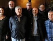 Joan Font (dreta), amb representants del SCIC, el departament de Cultura, l'SGAE i La Xarxa (font: Joan Font)