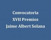 XVII Premi Jaime Albert Solana