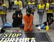 Acte reivindicatiu d'Stop Tortura