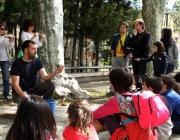 Limnos i Emys amb la tortuga d'estany (imatge: limnos.org)