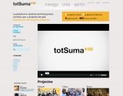 Portada de TotSuma, la plataforma de micromecenatge en català