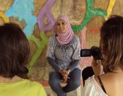 """Gravant el documental """"Trencant tabús"""" de l'Associació Catalana per la Pau"""